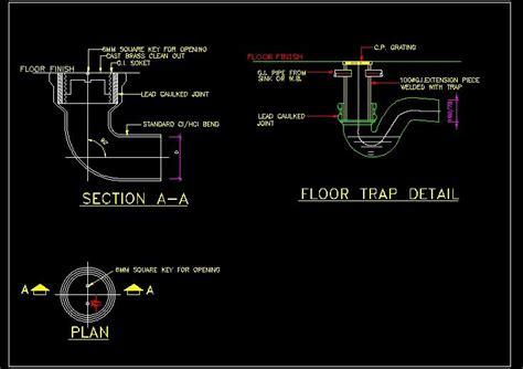 wall plate cover floor trap detail plan n design