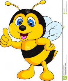 Cartoon Bee with Thumbs Up