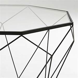 Table Basse Verre Trempé Noir : sleek coffee table in tempered glass and black metal wooden it be nice ~ Dode.kayakingforconservation.com Idées de Décoration