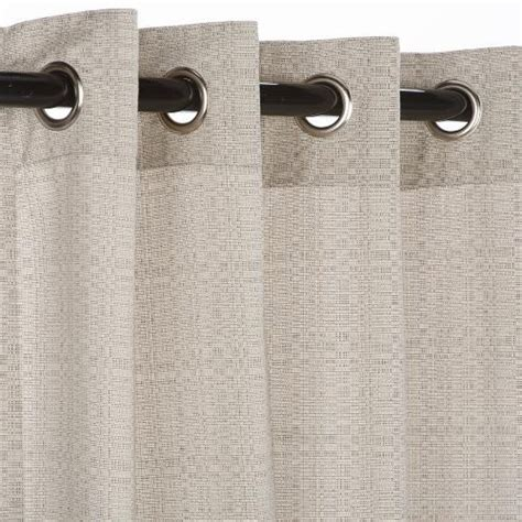 sunbrella outdoor curtain with nickle grommets linen sesame
