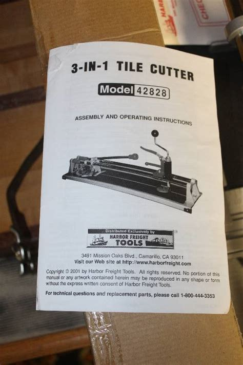 harbor freight tools 24 quot 3 in 1 tile cutter independence