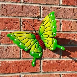 Butterfly large new green metal butterflies wall art