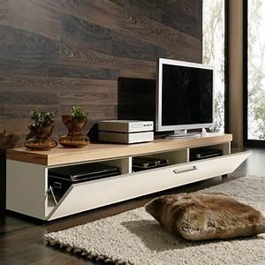 Tv Lowboard Mit Tv Halterung : lowboard tv lowboard tv board tv rack in kernbuche und weiss ~ Michelbontemps.com Haus und Dekorationen