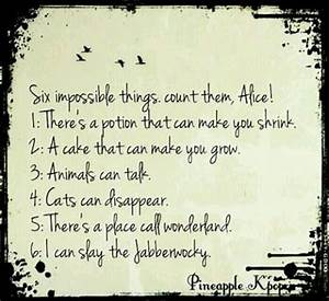 Six Impossible Things Before Breakfast Words Pinterest
