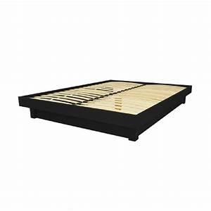 Bois Compressé Pas Cher : lit plateforme bois massif pas cher noir 160x200 ~ Dailycaller-alerts.com Idées de Décoration