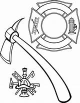 Fire Maltese Coloring Cross Firefighter Department Fireman Hat Helmet Vector Rescue Extinguisher Hydrant Clip Drawing Pages Stencil Bomberos Ems Hook sketch template