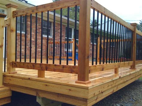 Lowes Canada Deck Boards by Lowe S Deck Railing Spindles Wood 100s Of Deck Railing