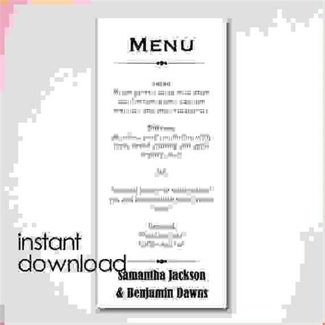 menu template word free the best home school guide