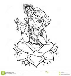 Hindu God Krishna Drawing