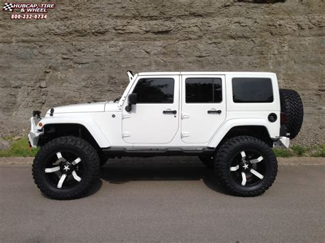 jeep white with black rims jeep wrangler xd series xd811 rockstar 2 wheels satin