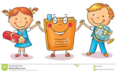 children holding with a book as a symbol of learning 547 | children holding hands book as symbol learning knowledge education colorful cartoon vector 67643079