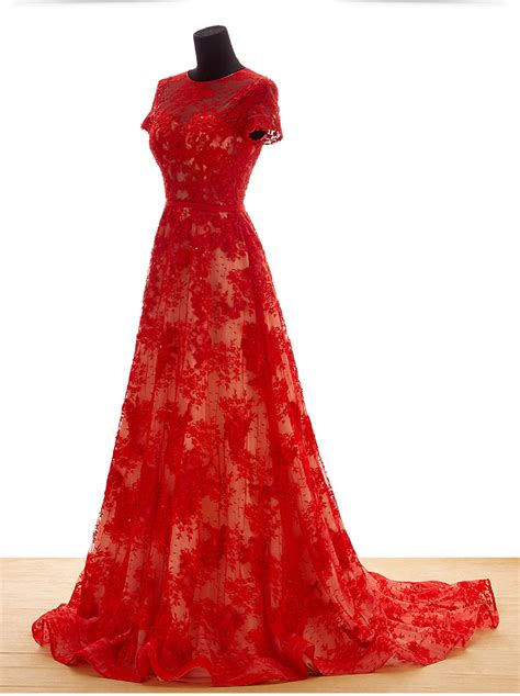 red bridal party dresses style    fashion