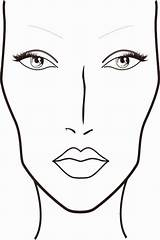 Face Blank Printable Charts Coloring Mac Sketch Makeup Chart sketch template