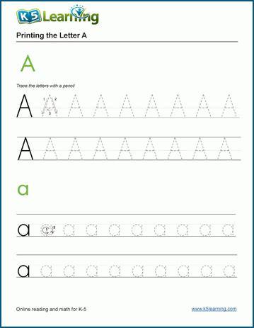 Kindergarten Tracing Letters Worksheets  K5 Learning