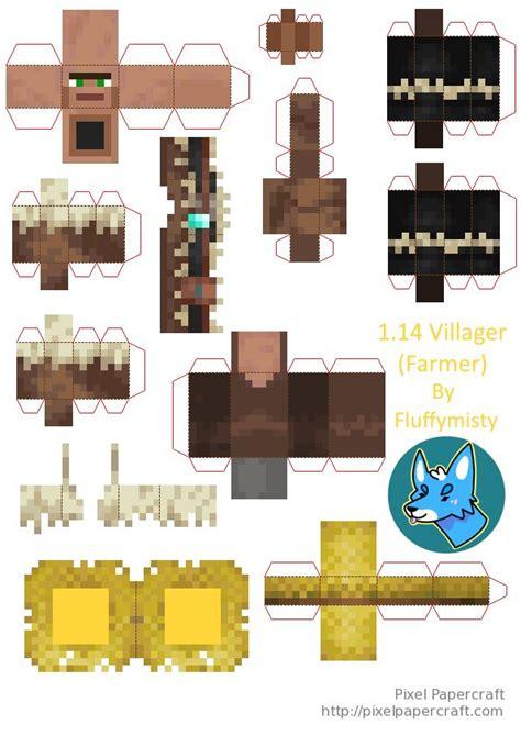 papercraft  villager farmer minecraft printables minecraft templates minecraft crafts