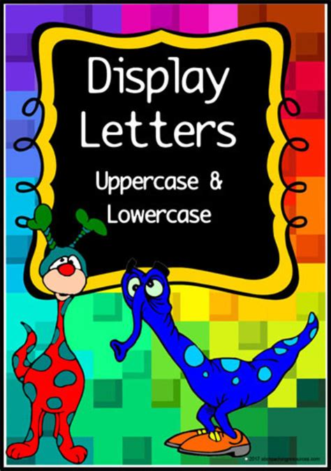 printable instant display lettering set abc teaching