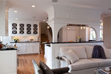 The Living Room Kitchen Renovation Schedule by Wayland Renovation Traditional Living Room Boston