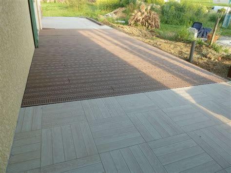 terrasse composite et carrelage