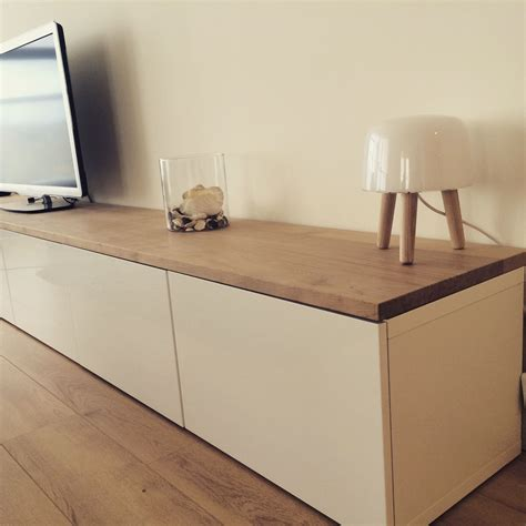 Ikea Besta Hack by Ikea Hacks Besta With Oak Plank Tv Unit In 2019