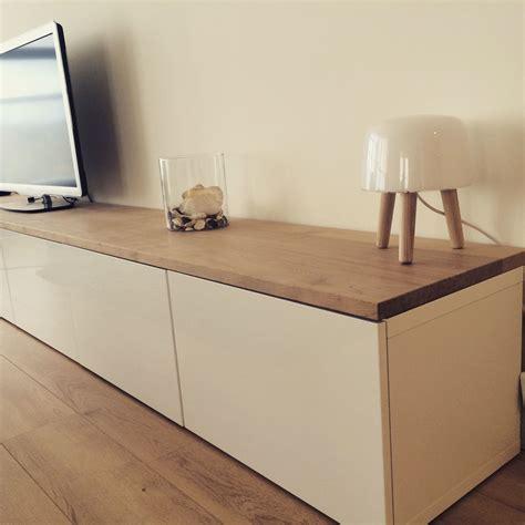 Ikea Lowboard Besta by Ikea Hacks Besta With Oak Plank Zuk 252 Nftige Projekte In