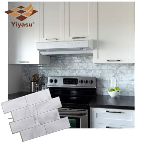 Update Your Decor With This Gray Brick Peel And Stick Wallpaper by White Grey Marble Mosaic Brick Peel And Stick Wall Tile