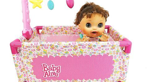 baby alive crib baby alive doll crib play yard playset sleeping doll