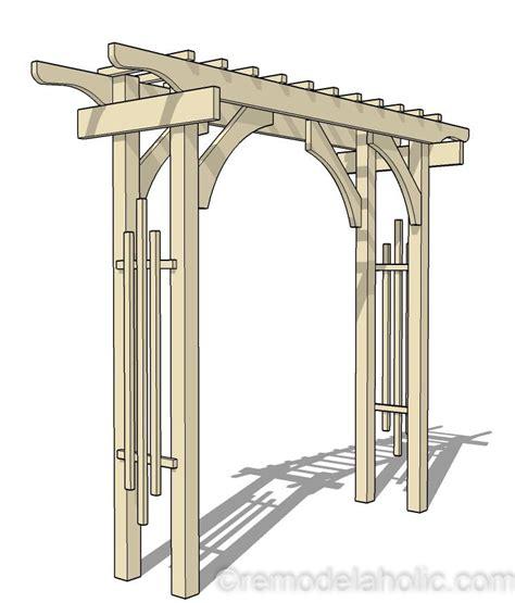 diy garden arbor wedding arch woodworking plan remodelaholic