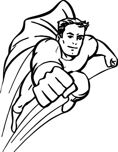 Superheroes Coloring Pages Wecoloringpagecom