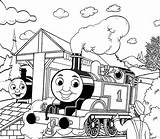 Coloring Train Thomas Pages Easy sketch template