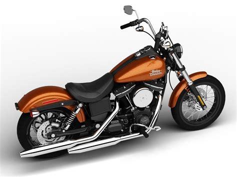 Harley-davidson Fxdb Dyna Street Bob 2015 3d Model Max Obj