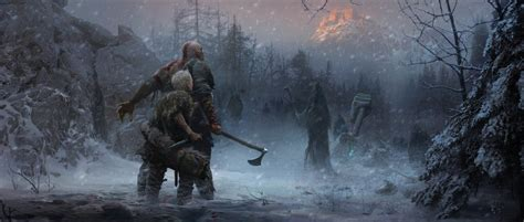 God Of War Concept Art Shows New Areas And Monsters And It