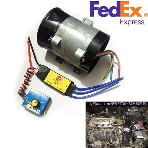electric supercharger ebay 12v car electric turbo supercharger kit air intake fan boost w esc us stock ebay