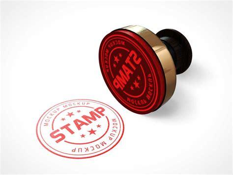 stamp psd mockups