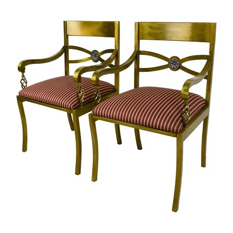 89 custom made antique gold wrought iron chairs