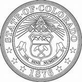 Seal Colorado State Coloring Flag Seals Martinchandra sketch template