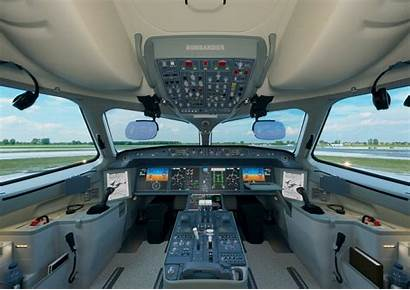 Bombardier Cockpit Series Aircraft Airlines United Plane