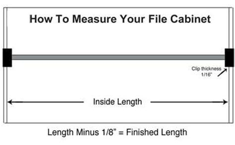 how to measure cabinets universal file bars file rails for metal or wood file