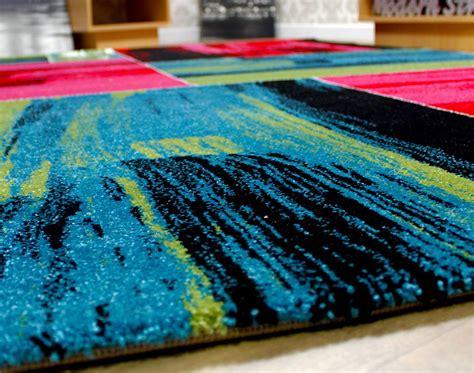 modern square pattern contemporary designer rugs black red green pink blue brown ebay