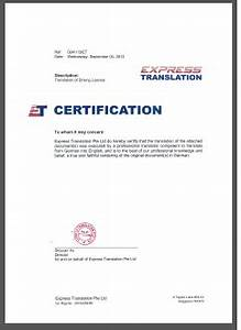 certified translation of birth marriage driving license With how to certify a translated document