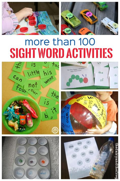 preschool sight words games 100 sight word activities sight word activities sight 862
