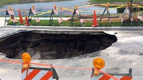large sinkhole opens  winter garden florida