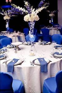Royal Blue And White Wedding Centerpieces Wedding Gallery