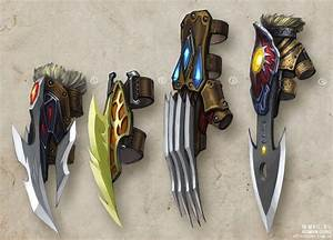 Concept art, Gloves and Weapons on Pinterest