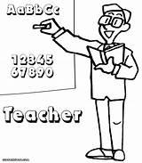 Teacher Coloring Colorings sketch template