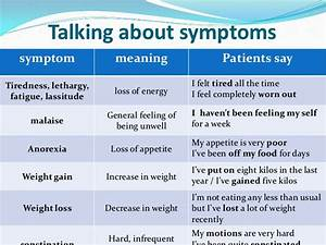 Symptoms, signs and blood