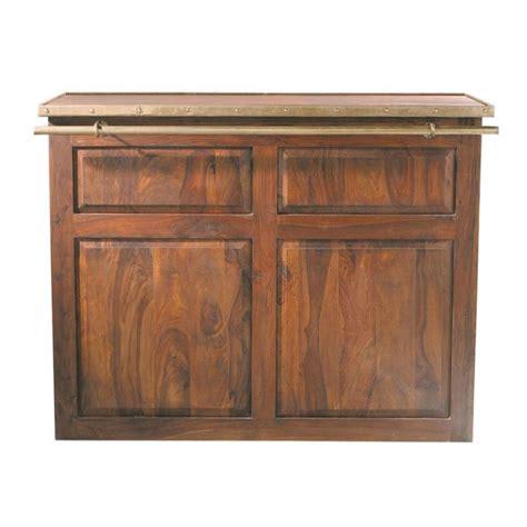 meuble de bar cuisine meuble de bar en bois de sheesham massif l 132 cm luberon