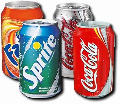 Soda Cans Coca Cola Fanta Sprite Healthy