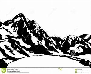 Mountain Scene Clipart Black And White - ClipartXtras