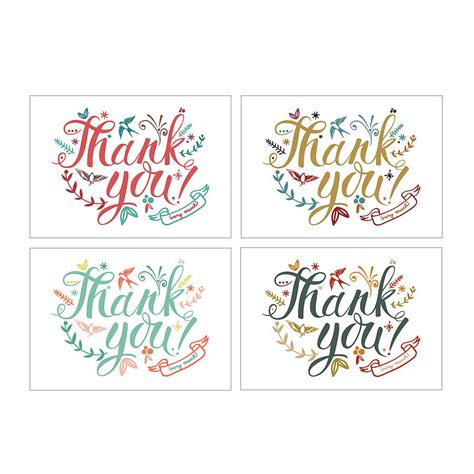 Thank You Cards By Oakdene Designs Notonthehighstreetcom