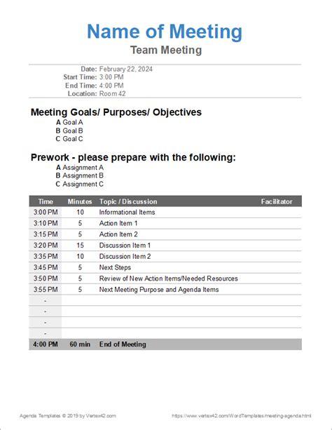 meeting agenda templates ipasphoto